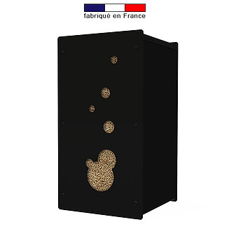 granulebox bulle noire capacit 45 kg vente et livraison de pellets pas chers dans l 39 is re. Black Bedroom Furniture Sets. Home Design Ideas